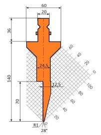Abkantwerkzeug Typ Trumpf GWP-T210