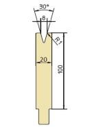 Abkantwerkzeug Typ Trumpf GWD-T008/30°/R1