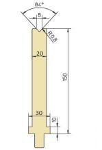 Abkantwerkzeug Typ Trumpf GWD-T008SH/84°/R0,8