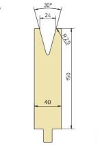 Abkantwerkzeug Typ Trumpf GWD-T024H/30°/R2,5