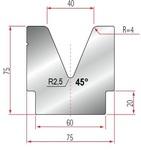 Amada Matrize V40-45°-R4