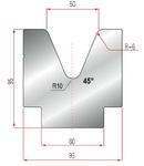 Amada Matrize V50-45°.R6